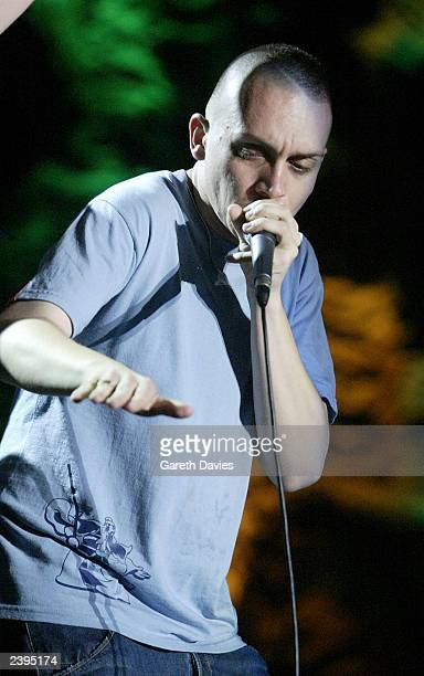 Human beatbox Killa Kela performs at The Isle of MTV summer music festival held on August 7 2003 in Ile Du Gaou France The 12date event is a series...