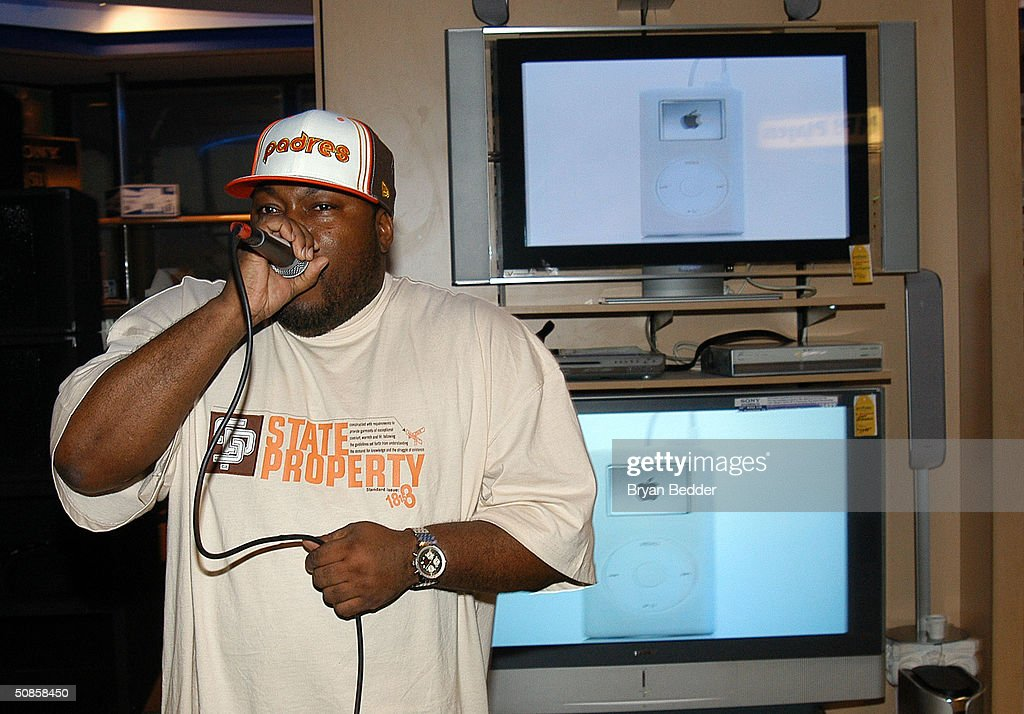 Human beat-box Rahzel performs at the ISkin and DataVision launch event May 19, 2004 in New York City.