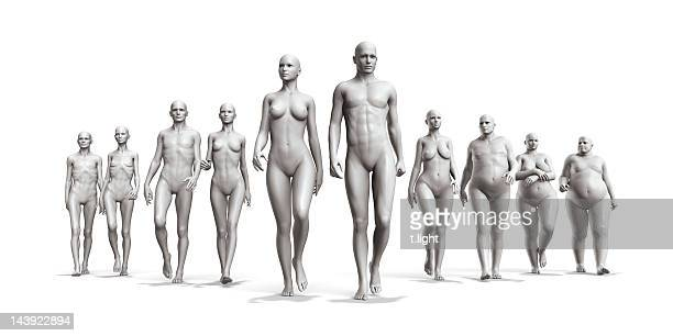 human body diversity - underweight stock photos and pictures
