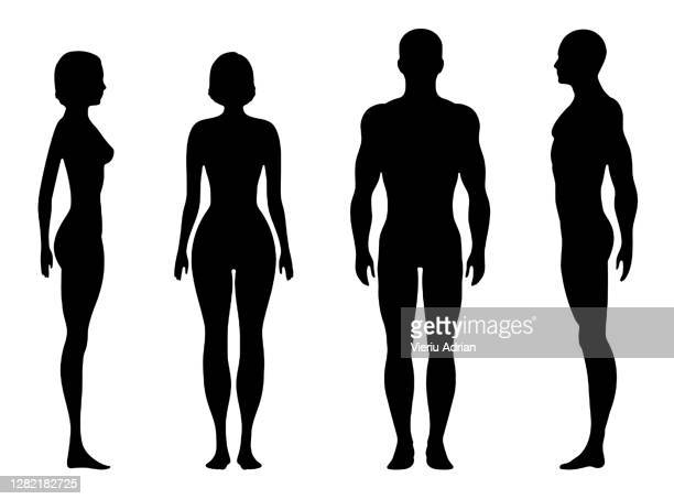 human body silhouette - in silhouette stock pictures, royalty-free photos & images