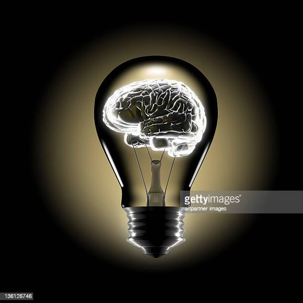Human Brain in the Middle of a bulb