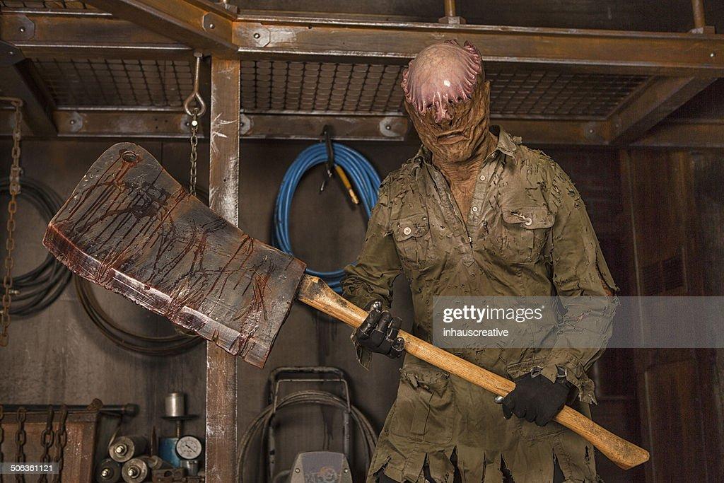 Human Butcher Shop : Stock Photo