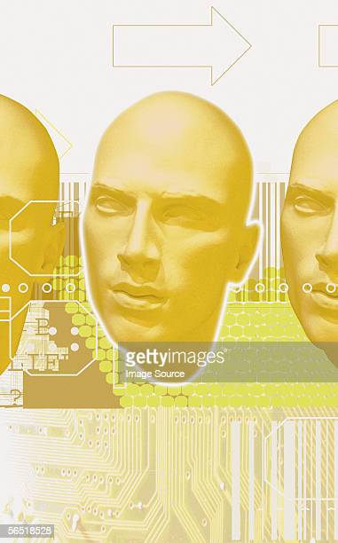 human cloning - human face foto e immagini stock