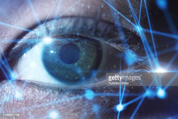 human eye and closeup network - identity stock pictures, royalty-free photos & images