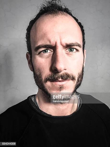 Menschliches Gesicht Bart, Nahaufnahme