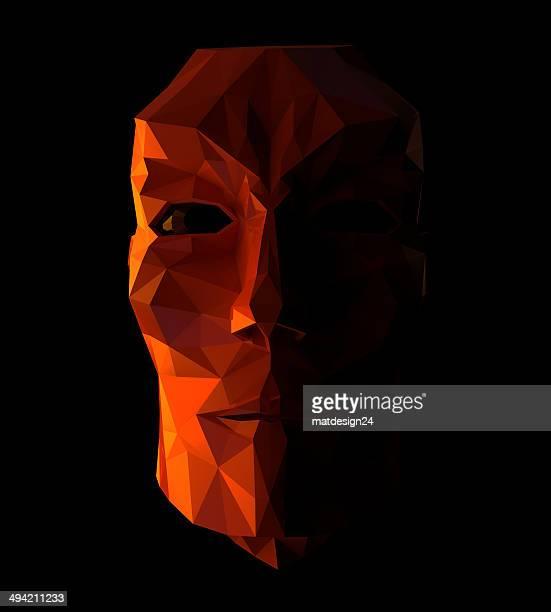 Human Face-3d concept