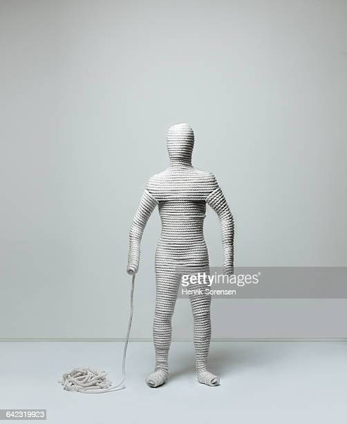 human figure created by rope