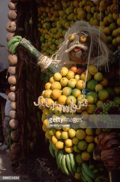 human figure in fruit - cundinamarca stock pictures, royalty-free photos & images