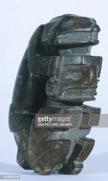 Human figure in slate artifact originating from Sucuruju PreColombian Civilization Goteborg Etnografiska Museet