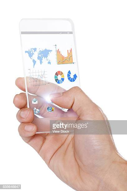 Human hand holding Phone model
