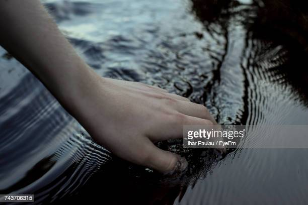 Human Hand In Water