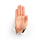 Human hand showing
