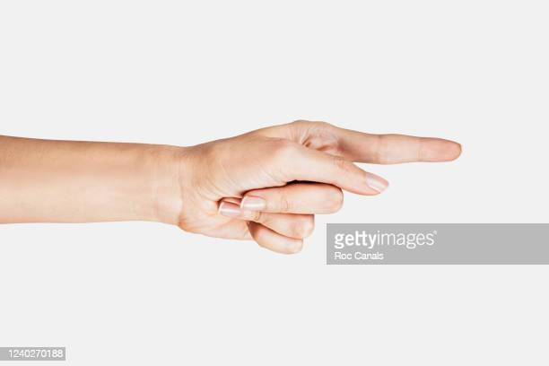 human hand with finger pointing - aiming stock pictures, royalty-free photos & images