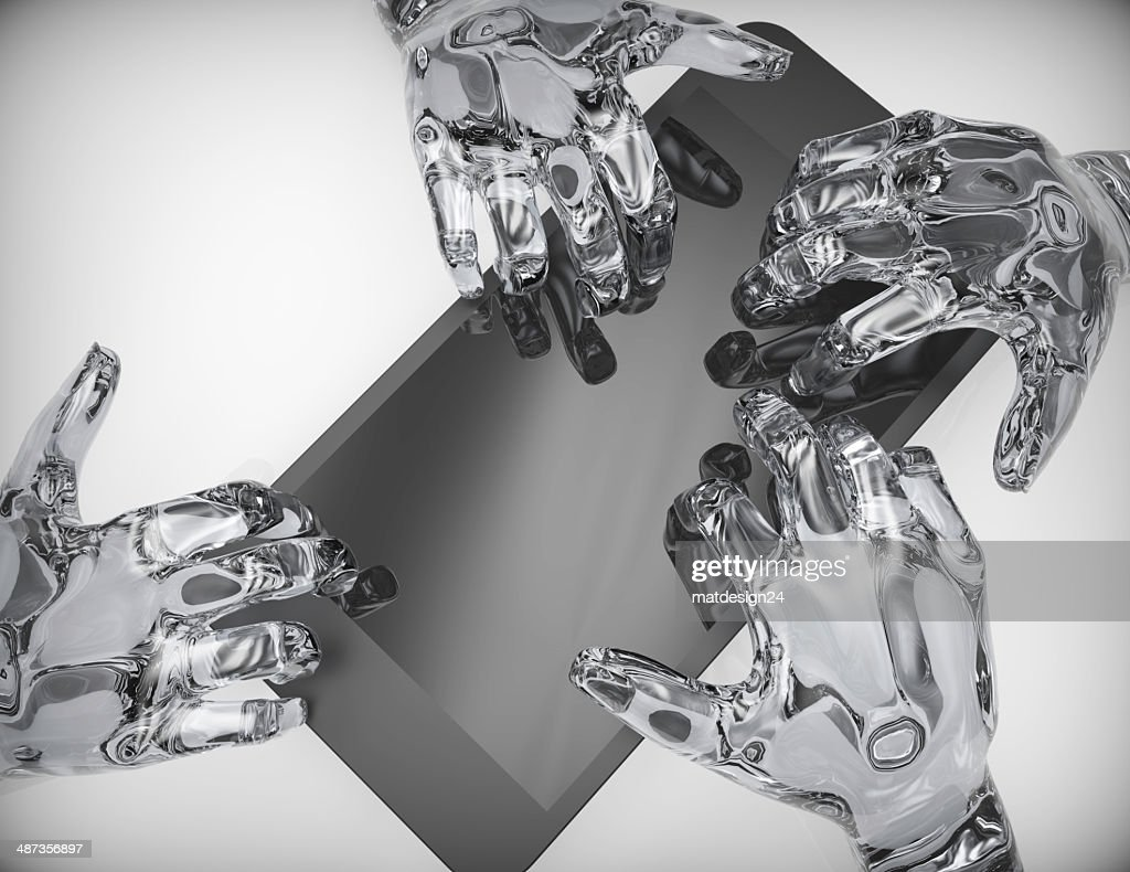 Human hand with Mobile phone-concept : Stock Photo