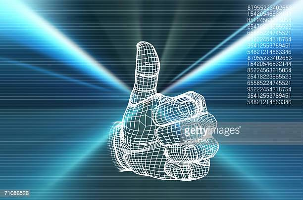 Human hand with thumps up (Digitally Generated)