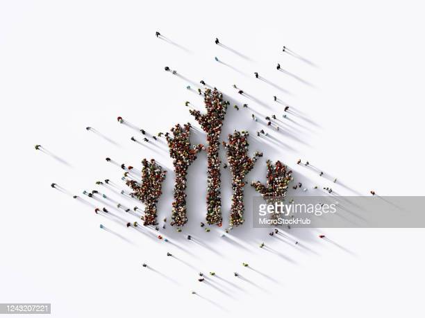 human hands formed by human crowd on white background - social justice concept stock pictures, royalty-free photos & images