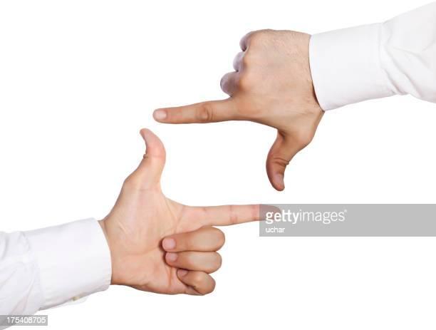 Menschliche Hände frame
