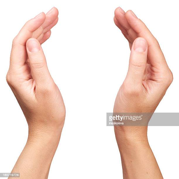 human hands - two objects stock photos and pictures