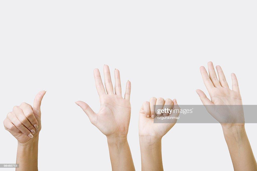 人間の手シリーズ : ストックフォト