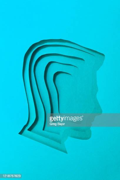 human head illustration - greg bajor stock pictures, royalty-free photos & images