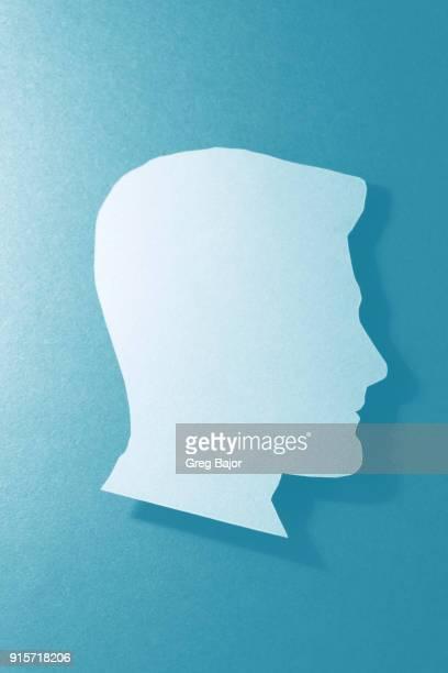 human head illustration - menselijk hoofd stockfoto's en -beelden