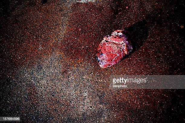 human heart - bloody heart stock photos and pictures
