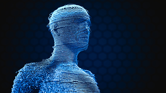 Human Hologram Techology Background 1139770739