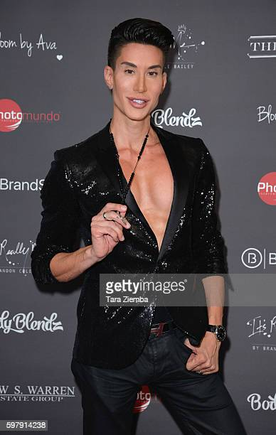 Human Ken Doll Justin Jedlica attends Ava Capras 21st birthday celebration at The Argyle on August 29 2016 in Hollywood California