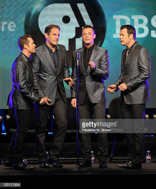 Human Nature singers Michael Tierney Toby Allen Andrew Tierney and Phil Burton perform onstage during the 'Smokey Robinson Presents Human Nature the...