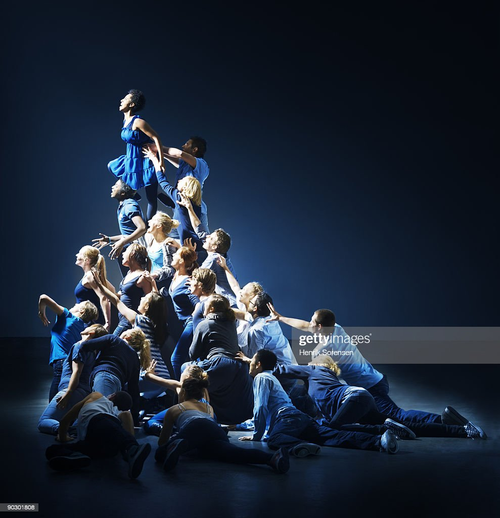human pyramid : Stock Photo