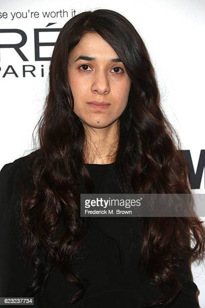 Human Rights Activist Nadia Murad attends Glamour Women Of The Year 2016 at NeueHouse Hollywood on November 14 2016 in Los Angeles California