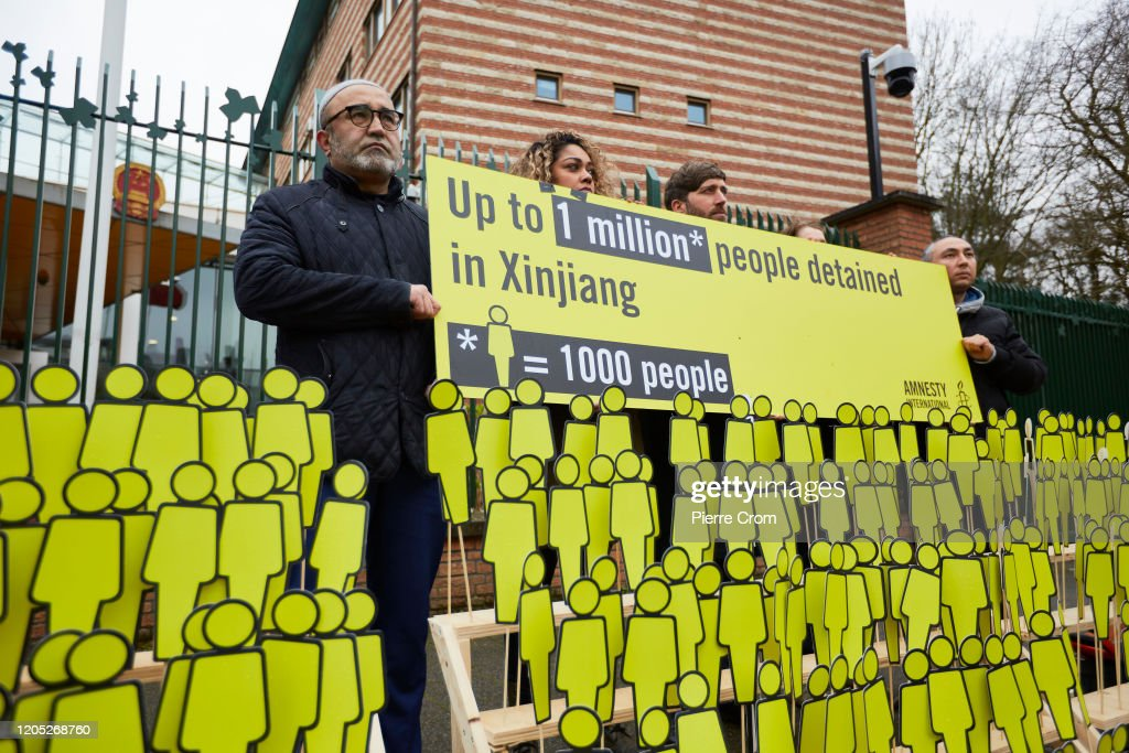 Human Rights Activists Protest The Missing Uyghus In China : News Photo