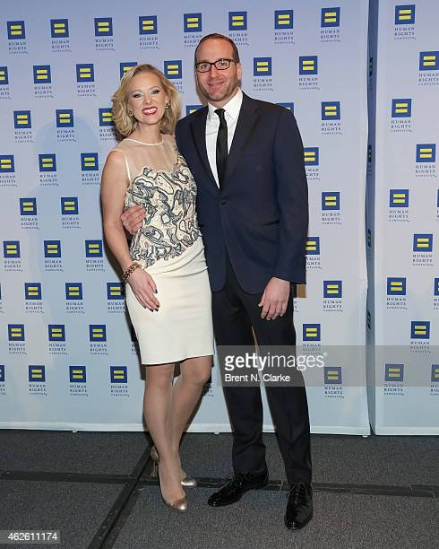 Human Rights Campaign President Chad Griffin and political strategist and author Margaret Hoover arrive for the 2015 Human Rights Campaign Greater...