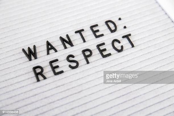 Human Rights Equal Rights Wanted Respect Letterboard