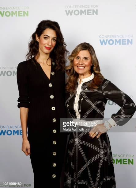 Human rights lawyer Amal Clooney and EVP Chief Administration Officer Beneficial Bank and Board Member Joanne Ryder pose for a photo together...
