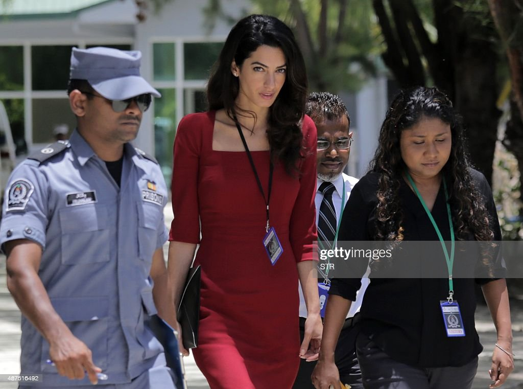 MALDIVES-POLITICS-RIGHTS-JUSTICE-PRISON-CLOONEY : News Photo