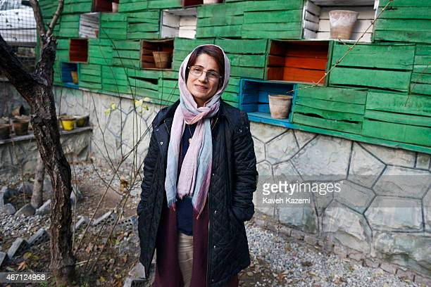 Human rights lawyer Nasrin Sotoudeh photographed in the garden of her office on December 9 2014 in Tehran Iran Nasrin Sotoudeh is a human rights...