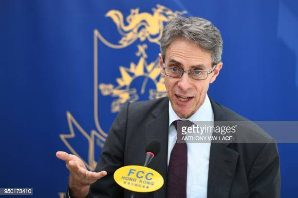 Human Rights Watch executive director Ken Roth speaks during a press conference upon the launch of their new report on discriminatory job...