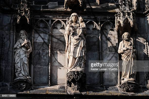 Human Sculptures At Aachen Cathedral