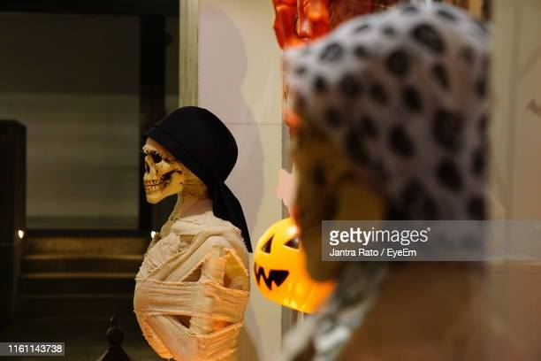 Human Skeletons Decorated At Home During Halloween