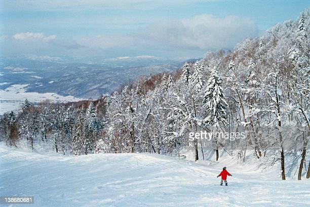 Human skiing