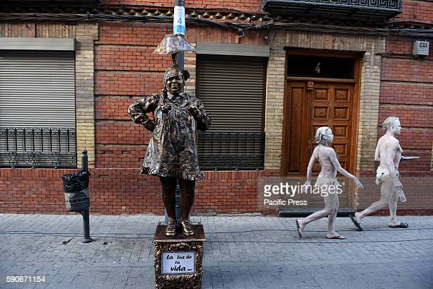 MUñOZ LEGANéS MADRID SPAIN Human statues pictured during the XV International Human Statues Contest in Leganés Madrid
