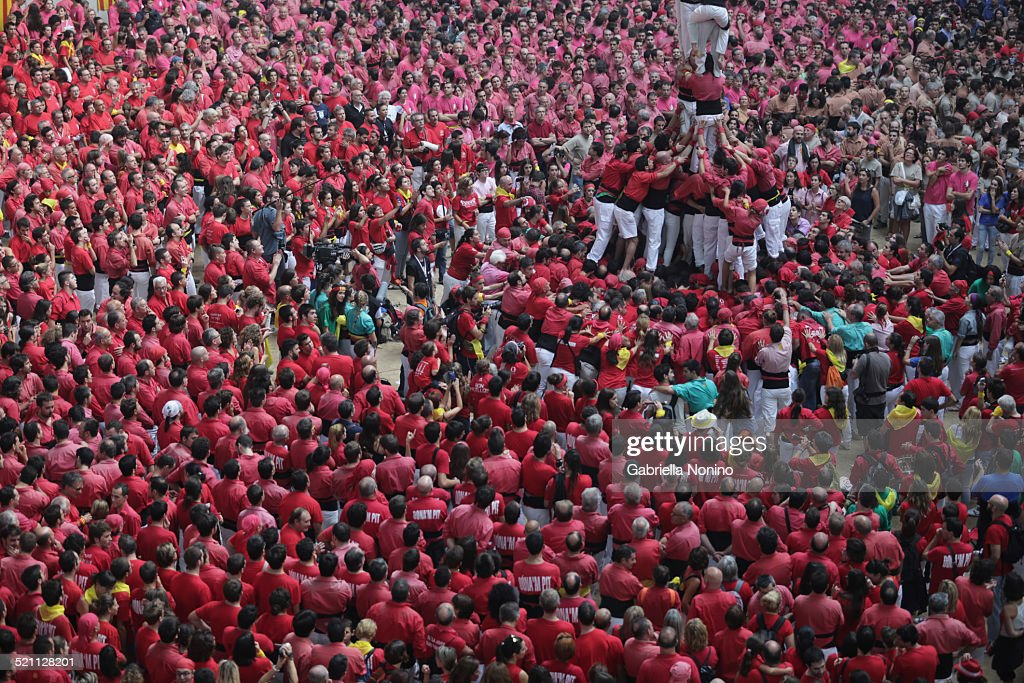 Human Towers competition in Tarragona : Stock Photo