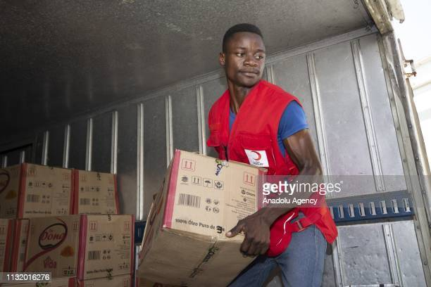 Humanitarian aids are prepared in Maputo Mozambique to be delivered to Beria province by sea after Cyclone Idai hit the area on March 22 2019