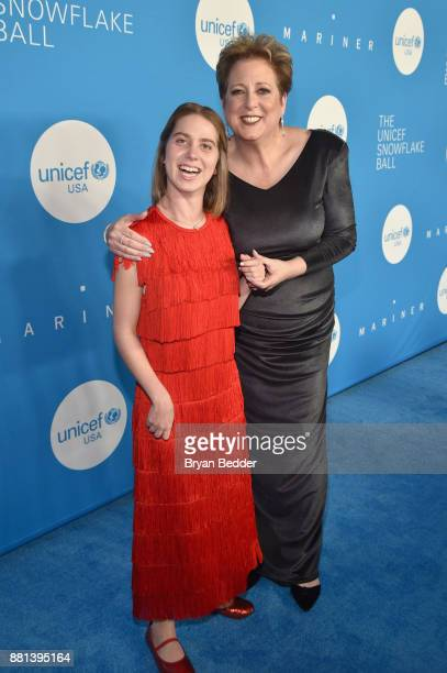 Humanitarian Award Honoree Lucy Meyer and CEO President UNICEF USA Caryl M Stern attend 13th Annual UNICEF Snowflake Ball 2017 at Cipriani Wall...