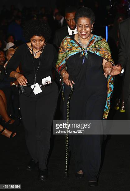Humanitarian Award recipient civil rights activist Myrlie EversWilliams attends the BET AWARDS '14 at Nokia Theatre LA LIVE on June 29 2014 in Los...