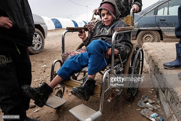 Humanitarian Crisis near Mosul in Iraq Photo taken in Qayyarah Jadah Camp near Qayyarah Jadah Camp on 23 December 2016 Displaced boy named ramadan...