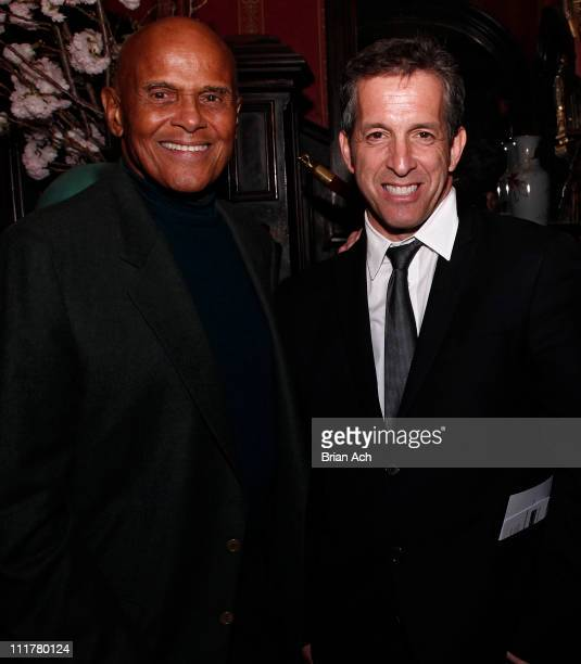 Humanitarian Harry Belafonte and designer Kenneth Cole attend the 2011 New York Choral Society Spring Gala at The National Arts Club on April 6, 2011...