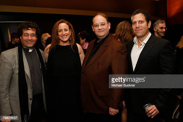 Humanitas President Father Frank Desiderio writer Cindy Chupack writer Marc Cherry and writer Darren Star attend the That's Not Funny panel...