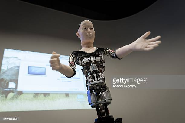 A humanoid robot called Alter designed by scientists in Japan is exhibited at the National Museum of Emerging Science and Innovation in Tokyo Japan...